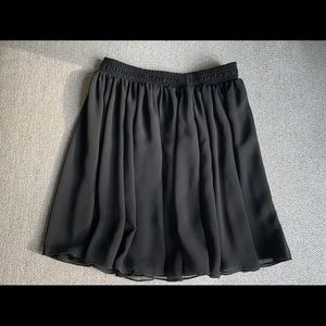 Black Chiffon Mini Skirt from American Apparel